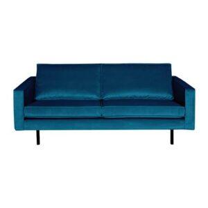 2-zitsbank Blauw Fluweel van BePureHome