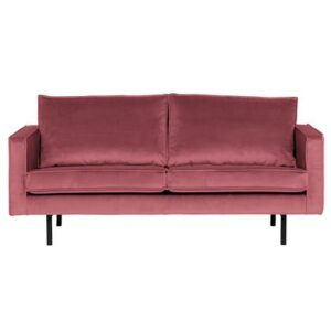 2-zitsbank Roze Fluweel van BePureHome