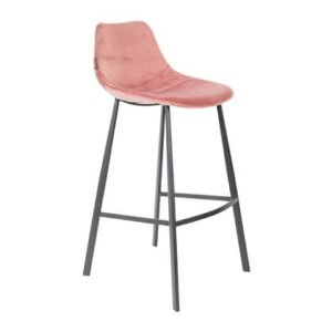 Barkruk Roze Fluweel van Dutchbone
