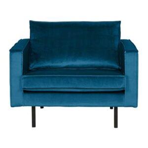 Fauteuil Blauw Fluweel van BePureHome