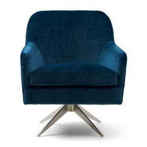 Fauteuil Blauw Polyester van Rivièra Maison