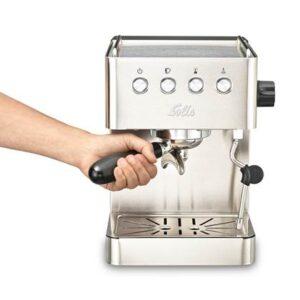 Halfautomatische espressomachine Zilver RVS van SOLIS