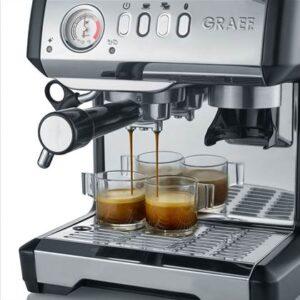 Halfautomatische espressomachine Zilver