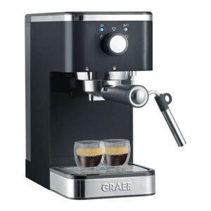Halfautomatische espressomachine Zwart Aluminium