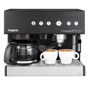 Halfautomatische espressomachine Zwart Kunststof