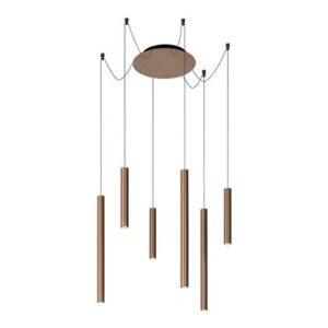 Hanglampen Bruin Aluminium van Lucide