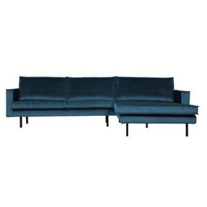 Hoekbank Blauw Polyester van BePureHome