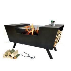 Houtskoolbarbecue Zwart Metaal van SenS-Line