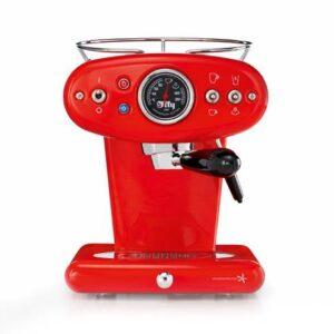 Koffiecupmachine Rood RVS van illy