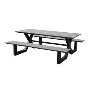 Picknicktafel Grijs Aluminium