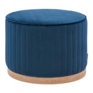 Poef Blauw Polyester van Rivièra Maison