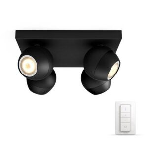Smart verlichting Zwart Kunststof