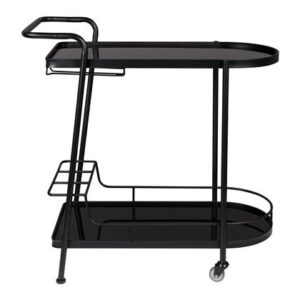Trolley Zwart Glas