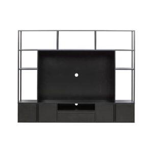 Tv-meubel Zwart MDF