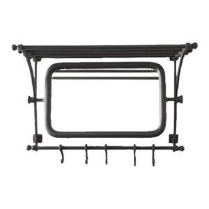 Wandkapstok Zwart Aluminium