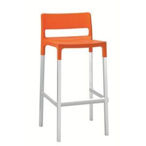 Barkruk Oranje Kunststof van Scab