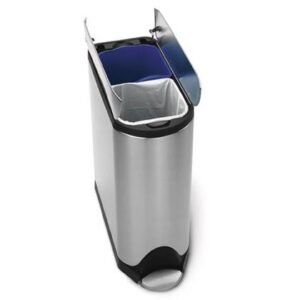 Duo afvalbak Zilver RVS van Simplehuman
