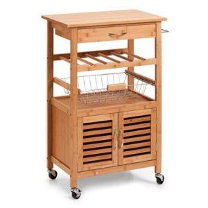 Keukentrolley Bruin Bamboe van Zeller