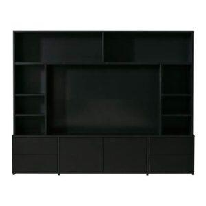 Tv-meubel Zwart Hout van Woood