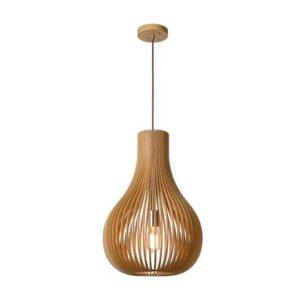 Hanglampen Bruin Hout van Lucide