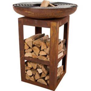 Houtskoolbarbecue Zwart Gietijzer