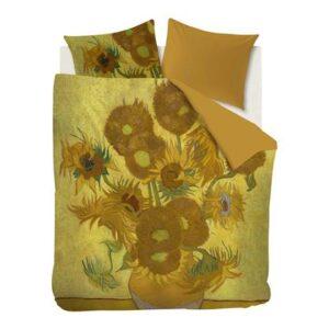 Lits Jumeaux XL Geel Katoensatijn van Beddinghouse x Van Gogh Museum