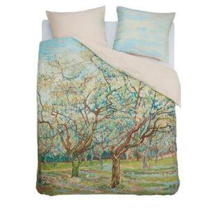 Lits Jumeaux Multicolor Katoensatijn van Beddinghouse x Van Gogh Museum