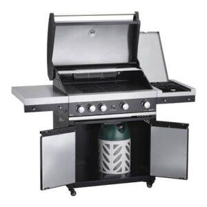 Elektrische barbecue Zwart RVS van GrandHall