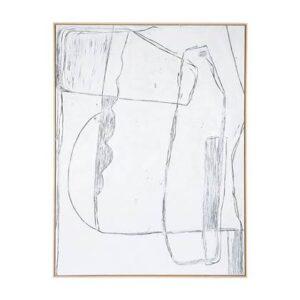Handgeschilderd Wit Canvas