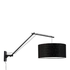 Wandlampen Zwart Bamboe