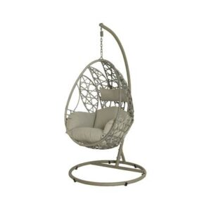 Buiten hangstoel Grijs Wicker van Outdoor Living by Decoris