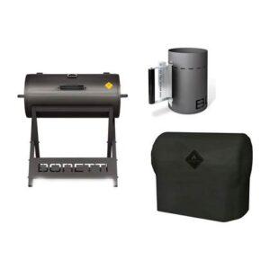 Houtskoolbarbecue Grijs PVC