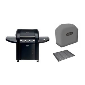 Bakplaat & grillrooster Zwart Email