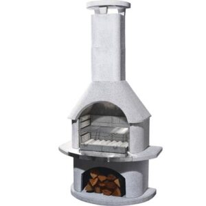 Houtskoolbarbecue Wit Beton