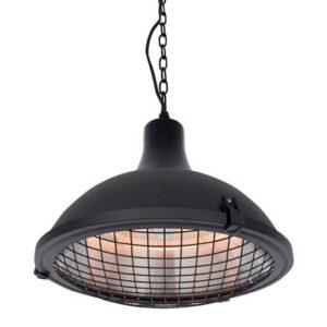 Terrasverwarmer Zwart Aluminium