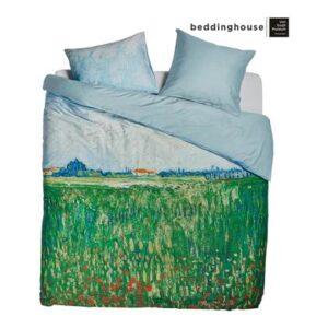 Lits Jumeaux Groen Katoensatijn van Beddinghouse x Van Gogh Museum